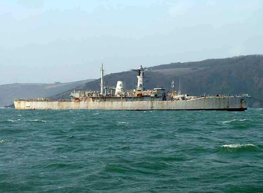 HMS Scylla (F71) dive site location Cornwall